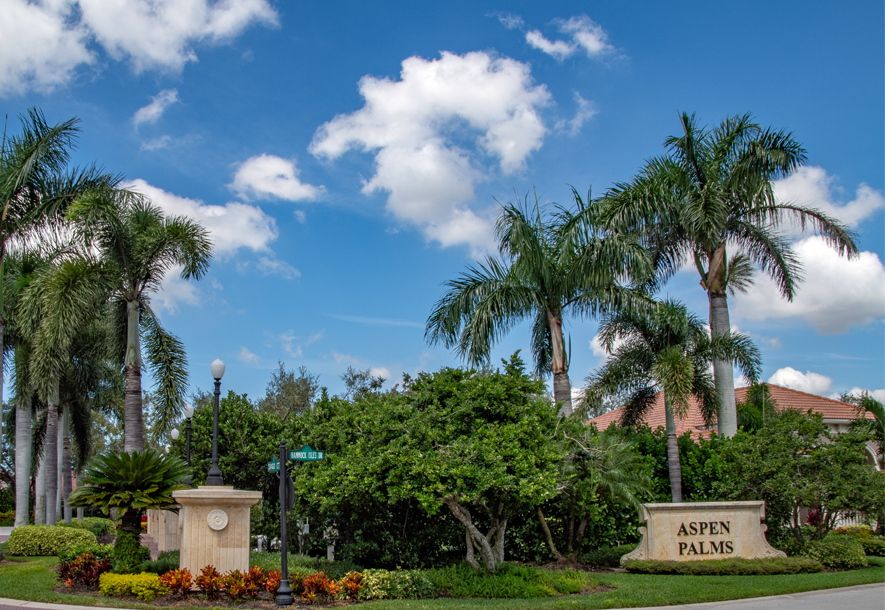 Aspen Palms Sign | Hammock Isles at The Vineyards HOA