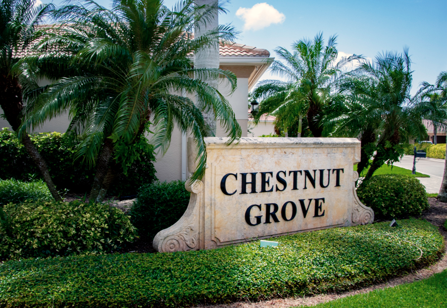 Sign at Chestnut Grove Villas | Hammock Isles at The Vineyards HOA